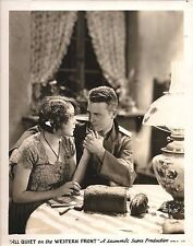 "YOLA D'AVRIL & LEW AYRES in ""All Quiet on the Western Front"" Original Vint. 1930"