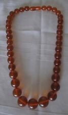 "Russian Soviet Baltic Honey Amber Necklace beads 18.5"" Бусы Янтарь"