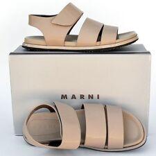 MARNI New sz 41 - 11 Authentic Designer Womens Flats Shoes Slides Sandals beige