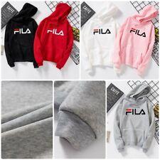 Men Women FILA Couple Hoodies Sweatshirt Pullover Casual Coat Jumper UK STOCK !!