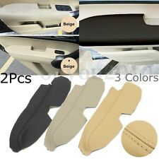 Pair Left Right PU Leather Front Door Panels Armrest Covers For Honda CRV 07-11