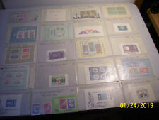Unchecked Assorted Mixed Mint Worldwide Souvenir Sheets in Glassines
