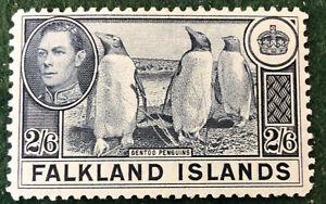 Falkland Islands George Vl 2/6 Definitive Mounted Mint SG160 C/V  £60.00 in 2018