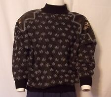 TORRAS KNIT SWEATER WITH NATURAL LEATHER SHOULDER WOMEN'S SIZE M--SPAIN