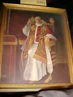 """RARE, VINTAGE Pope Pius X11 9 X 11""""  Picture Celebrity Print, PADDED CLOTH PHOTO"""