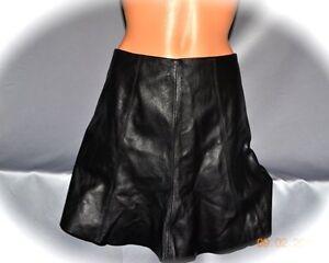 $200 Victorias Secret Genuine Leather Flared Mini Skirt NWT 0