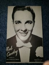 Bob Crosby 1940's-50's Mutoscope Music Corp of America Postcard