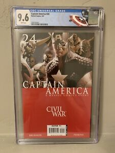 Captain America #24 CGC 9.6 NM+ Civil War Custom Label