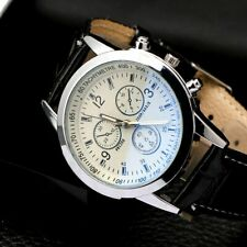 Mens Leather Faux Formal Casual Smart Analog Quartz Wrist Watch Watches