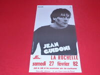 COLL.J. LE BOURHIS AFFICHES Spectacles / JEAN GUIDONI 1982 La Rochelle Philips
