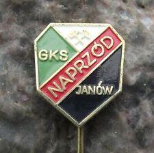 Antique GKS Naprzod Janow Poland Ice Hockey Club Polish Hammer Logo Pin Badge