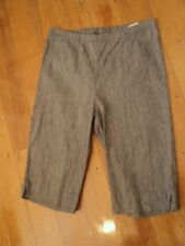 . blue illusion  grey stretch shorts linen mix