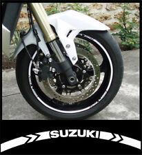 Kit 24 Stickers de liserés pour 2 jantes SUZUKI - GSR GSXR Gladius SV 650 Bandit
