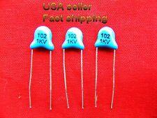 16 pcs - .001uf (0.001uf, 1000pf)  1kv (1000v) ceramic capacitors FREE SHIPPING