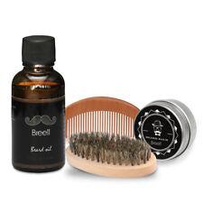 Breett Beard Mustache Oil Brush Comb Ointment for Men Beauty Kit Natrual Wood
