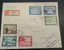 1940 Germany to Riga Latvia Registered Multi Franking Wehrmacht Cover