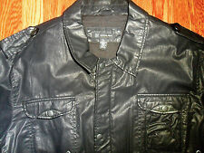 $149 INC Macy's BLACK COATED COTTON m65 STYLE MILITARY COMMANDO COAT-JACKET 2XL