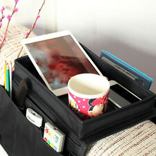 Arm Rest Chair Settee Couch Sofa Phone Table Top Holder Bag Organiser Tray