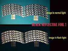 MAVIC COSMIC ELITE 2016 BLACK REFLECTIVE REPLACEMENT RIM DECAL SET FOR 2 RIMS