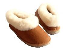 chaussons filles camel ou coffe ou rouges  fourrés peau de mouton - tannage natu