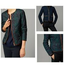 NWT MASSIMO DUTTI ZARA REVERSIBLE QUILTED JACKET LEATHER PIPING CHECK XS