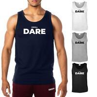 GYMTIER Dare   Men's Gym Vest Bodybuilding Tank Top Stringer T-Shirt