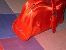 neceser marca bolso cristian lay bolso rojo lona charol mediano buena cabidad