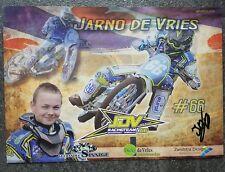 AK m.Orig.AG Jarno de Vries HOL Grasbahn Langbahn Speedway Weltklasse