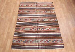 7'1''X4'7' kilim,Vintage kilim,stripe design kilim,Area kilim,Tukish wool kilim