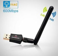 USB Wifi Adapter USB 433Mbps Wireless Antena Desktop Laptop PC Support Internet
