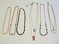 Lot of 6 beautiful necklaces. Premier designs, Avon, chains, crystals + beads