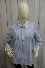TOMMY HILFIGER Camicia Donna Shirt Casual Cotone Manica Lunga Chemise Taglia 2XL