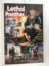 Lethal Panther (Maria Jo) Original Movie Flyer Hong Kong Program 90s