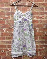 Guess 3 XS S Floral Kleid Dress Blume Spitzenbesatz Lace ärmellos Summer