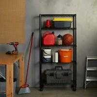 """65x36x14"""" 5 Layer Commercial Adjustable Wire Metal Shelf Shelving Rack Rolling"""