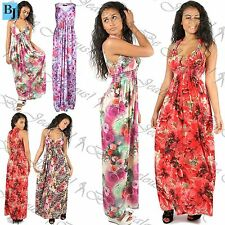 Jersey Floral Sleeveless Maxi Dresses for Women