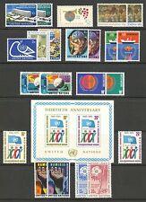 UN-New York #244-266, 1974-1975 Annual Sets, Unused NH