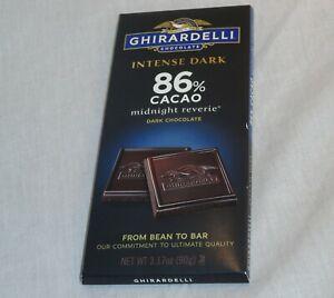 Ghirardelli Intense Dark 86% Cacao Midnight Reverie Chocolate Bar 3.17 oz (90 g)
