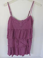 Junoirs Mudd Lavender Ruffle Spaghetti Strap Shirt Size L