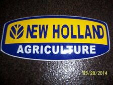 """New Holland Agriculture 3.5"""" X 8"""" New Vinyl Sticker (Blue, and Yellow )"""