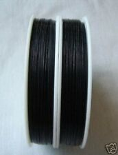 100 M BLACK Tiger Tail Nylon Coated Beading wire .38mm #10077