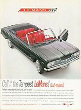 1962 Pontiac LeMans 2-Door Convertible PRINT AD