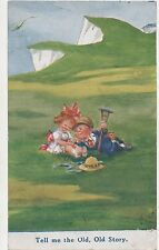 POSTCARD  COMIC  CHILDREN  Tell me the old old story... Gilson