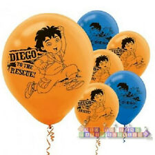 GO DIEGO GO Biggest Rescue LATEX BALLOONS (6) ~ Birthday Party Supplies Helium