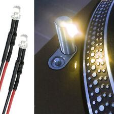 TECHNICS 1200 1210 3MM WARM WHITE LED TARGET POP UP LIGHT (BUILT IN RESISTOR)x2