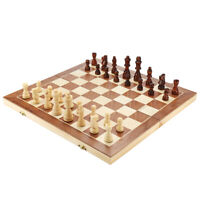 Large Chess Wooden Set Folding Chessboard Magnetic Pieces Wood Board 40cm