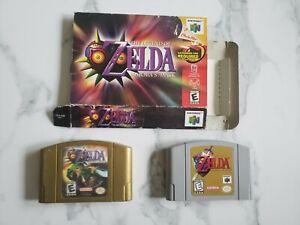 N64 Legend of Zelda Majoras Mask and Ocarina of Time Lot. MM Box. Tested Working