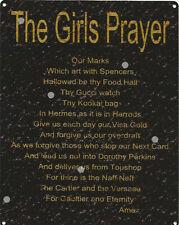 THR GIRLS PRAYER SIGN RUSTIC VINTAGE STYLE 8x10in 20x25cm pub games room