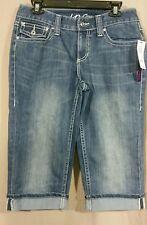 INC New Blue Denim  Jean Skimmer Capri Cropped Pants Shorts  SZ 6 NWT 548