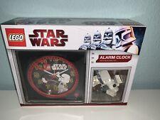 LEGO STAR WARS ALARM CLOCK 9002977 battle Turret Chewbacca Stormtrooper Figs